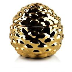 GIA Pojemnik 10x10xh9,7cm SZYSZKA złota artykuł dekoracyjny