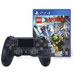 Sony DualShock 4 v2 (czarny) + gra LEGO Ninjago Movie Gra Wideo - produkt w magazynie - szybka wysyłka!