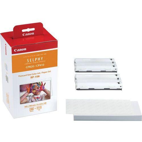 Papiery i folie do drukarek, Canon papier termosublimacyjny RP-108, RP108, 8568B001AA, 100 mm. x 148 mm, 108 arkuszy