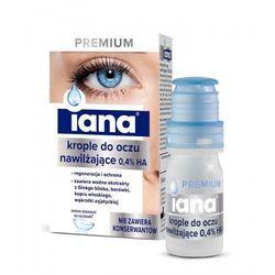 IANA Krople do oczu PREMIUM nawilżające bez konserwantów 0,4% HA 10ml STARPHARMA