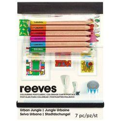 Reeves Zestaw kartek pocztowych do kolorowania + kredki