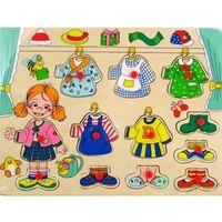 Pozostałe zabawki dla najmłodszych, Brimarex Układanka drewniana, Dziewczynka przebieranka