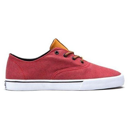 Męskie obuwie sportowe, buty SUPRA - Wrap Lowt Red/Spice - White (RSC) rozmiar: 36