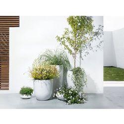 Doniczka biała - ogrodowa - balkonowa - ozdobna - 23x23x13 cm - ISEO