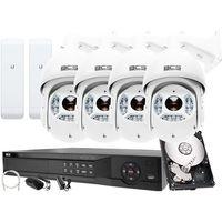 Zestawy monitoringowe, Rejestrator IP BCS BCS-NVR16045ME-II + 4x Kamera 2MPx BCS-SDIP5225-III + Akcesoria