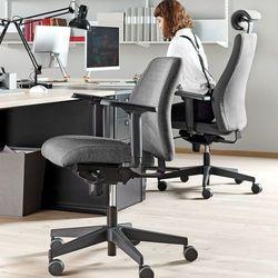 Krzesło biurowe LANCASTER, niskie oparcie, antracyt