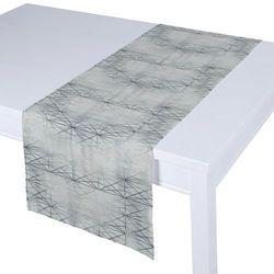 Dekoria Bieżnik prostokątny, szara biel z geometrycznym wzorem, 40 × 130 cm, Comics