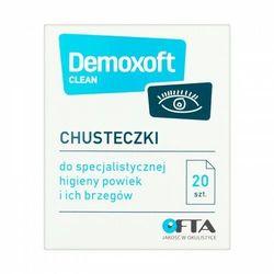 Demoxoft Clean - chusteczki odświeżające do oczu 20 szt.