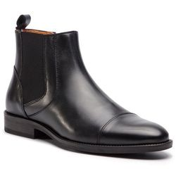 Kozaki TOMMY HILFIGER - Essential Leather Toecap Chelsea FM0FM02140 Black 990