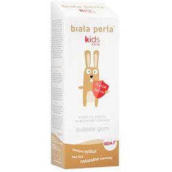 Biała Perła Kids - Pasta żel do mycia zębów dla dzieci 3-6 lat, smak GUMY BALONOWEJ, 50 ml