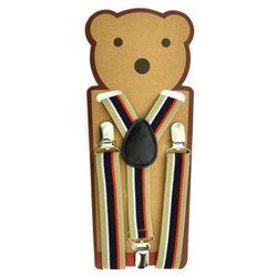 Beżowe szelki do spodni dla dzieci - Beżowy   Kolorowy