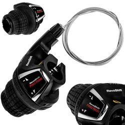 Manetka SHIMANO SL-RS35 czarny / Ilość biegów: 3 / Indeksowanie: płynne / Montaż: lewa