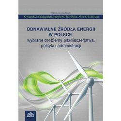 Odnawialne źródła energii w Polsce. Wybrane problemy bezpieczeństwa, polityki i administracji (opr. miękka)