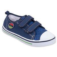 Buty sportowe dla dzieci, Trampki ciemnodżinsowe na rzepy niskie 27