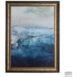 Obraz w ramie Niebieska abstrakcja 101550