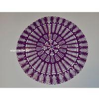 Ozdoby świąteczne, Wycinanka ludowa, kurpiowska, Gwiazda, śred. 34 cm, kolor fioletowy (czk-2)