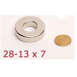MOCNY Magnes Neodymowy Pierścieniowy (28-13x7mm).