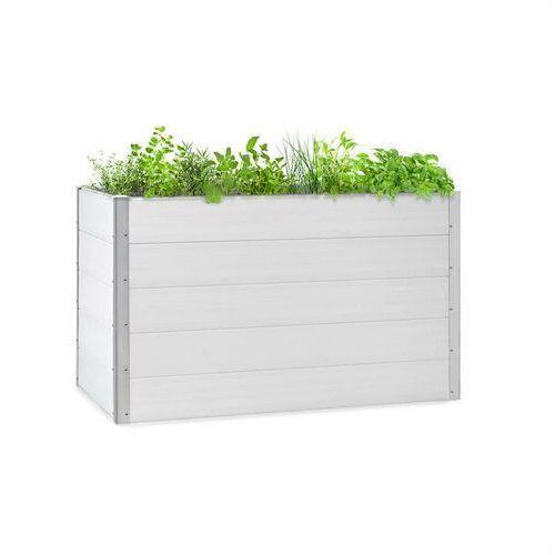 Doniczki i podstawki, Blumfeldt Nova Grow, podniesiona grządka, 150 x 91 x 100 cm, WPC, imitacja drewna, biała