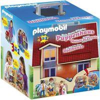 Klocki dla dzieci, Playmobil DOLLHOUSE Nowy przenośny domek 3w1 5167