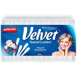 VELVET 200szt Natural Comfort Patyczki kosmetyczne pudełko