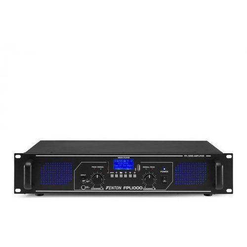 Rejestratory i odtwarzacze audio, Fenton FPL1000 Wzmacniacz cyfrowy 2 x 500 W Bluetooth odtwarzacz multimedialny port USB slot SD