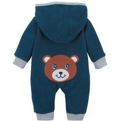 Kombinezon niemowlęcy z polaru bonprix ciemnoniebieski