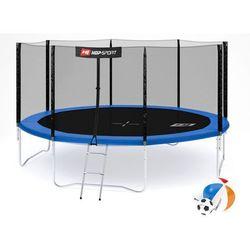 Trampolina ogrodowa 14ft (427cm) z siatką zewnętrzną Hop-Sport - 4 nogi - 427 cm \ niebieski