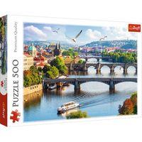 Puzzle, Puzzle 500 elementów Praga Czechy + 2-gi zestwa 10% TANIEJ!!