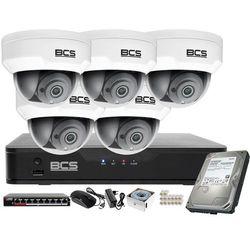Monitoring wideo audio kasy stacji paliw sklepu BCS Point Rejestrator IP + 5x Kamera BCS-P-212RWSA + Akcesoria