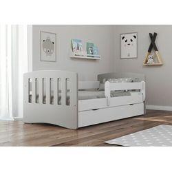 Łóżko dziecięce, barierka ochronna, classic mix, szary, biały, mat