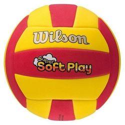 Piłka siatkowa Wilson SOFT PLAY czerwono-żółta WTH3509XB
