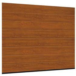 Brama garażowa SEGMENTOWA 42 Z NAPĘDEM Złoty dąb ISOMATIC
