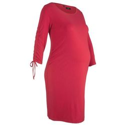 Sukienka ciążowa shirtowa bonprix ciemnoczerwony