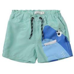 NAME IT Szorty kąpielowe 'ZHARKY' niebieski / turkusowy / jasnoniebieski / biały