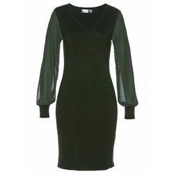 Sukienka shirtowa z wiązanym paskiem bonprix czarny
