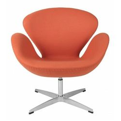 Kaszmirowy fotel wypoczynkowy pomarańczowy - Loco 2X