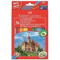 Kredki, Kredki ołówkowe 36kol. Faber-Castell Eco + temp. 120136