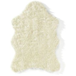 Sztuczna owcza skóra bonprix kremowy