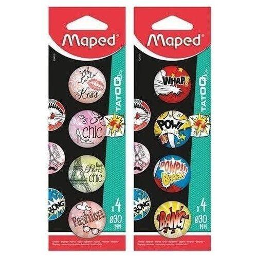 Pozostałe artykuły szkolne, Magnesy MAPED Tatoo 30mm mix wzorów 4szt. 30mm blister