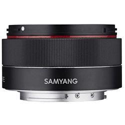 Obiektyw Samyang 35/2,8 DSLR automatycznej regulacji ostrości Sony E pełnoklatkowy obiektyw lichs nadawania F2.8 do zdjęć (zdejmowana osłona przeciwsłoneczna) pancakeobjektiv obiektyw szerokokątny Czarny