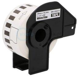 Taśma Brother DK-22211 folia 29mm x 15.24m do drukarki etykiet QL - zamiennik |OSZCZĘDZAJ DO 80% - ZADZWOŃ! 730811399