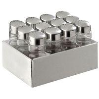 Pojemniki na przyprawy, Zestaw 12 okrągłych pojemników na przyprawy | 40x40x(H)100mm