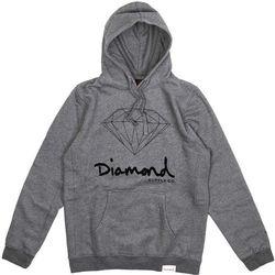 bluza DIAMOND - Og Sign Hoodie - Core Gunmetal Heather (GNHT) rozmiar: XL
