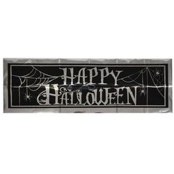 Dekoracja ścienna baner Happy Halloween - 86 cm - 1 szt.