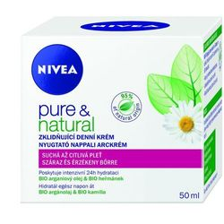 Nivea Pure & Natural krem do twarzy na dzień 50 ml dla kobiet