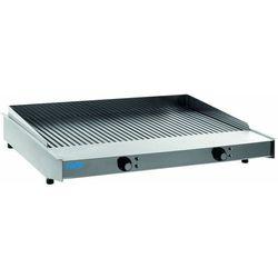 Płyta grillowa elektryczna ryflowana nastawna | 770x470mm | 9000W