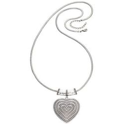 Łańcuszek z wisiorem sercem bonprix srebrny kolor