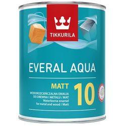 TIKKURILA EVERAL AQUA MATT 10- farba do drewna i metalu, baza A, 0.9 l