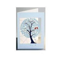 Karnet pm888 wycinany + koperta drzewo serca
