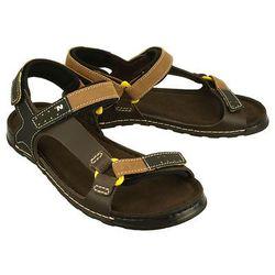 NIK 06-0163-23-7-04-03 rudy, sandały męskie - Brązowy